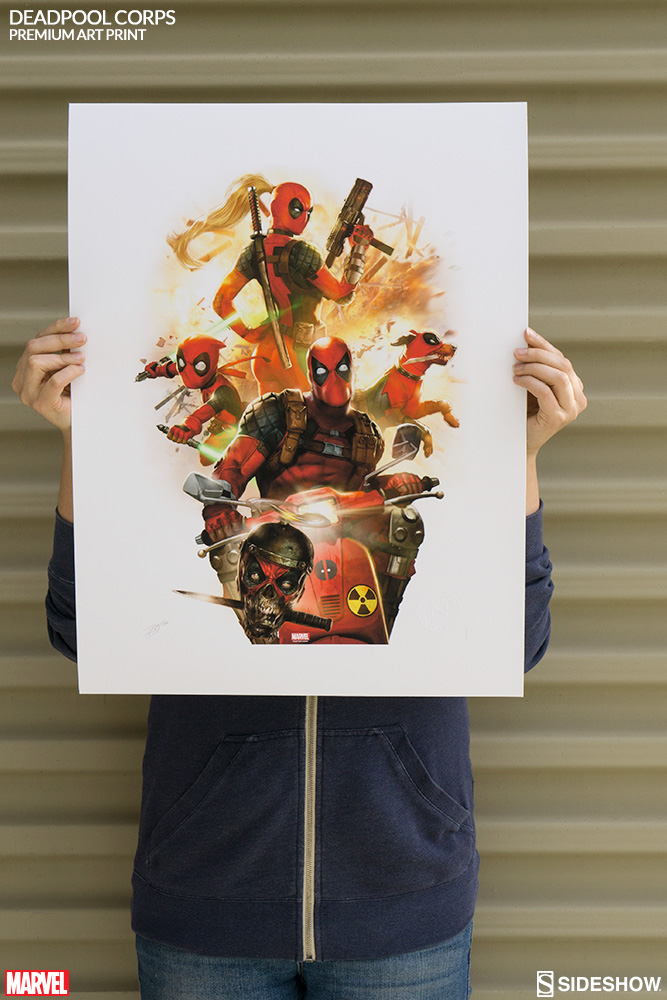 marvel deadpool corps premium art print by sideshow collecti