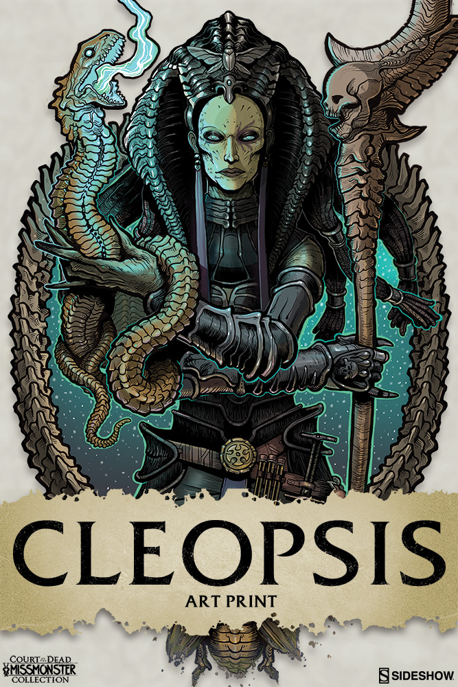 court of the dead cleopsis art print by sideshow