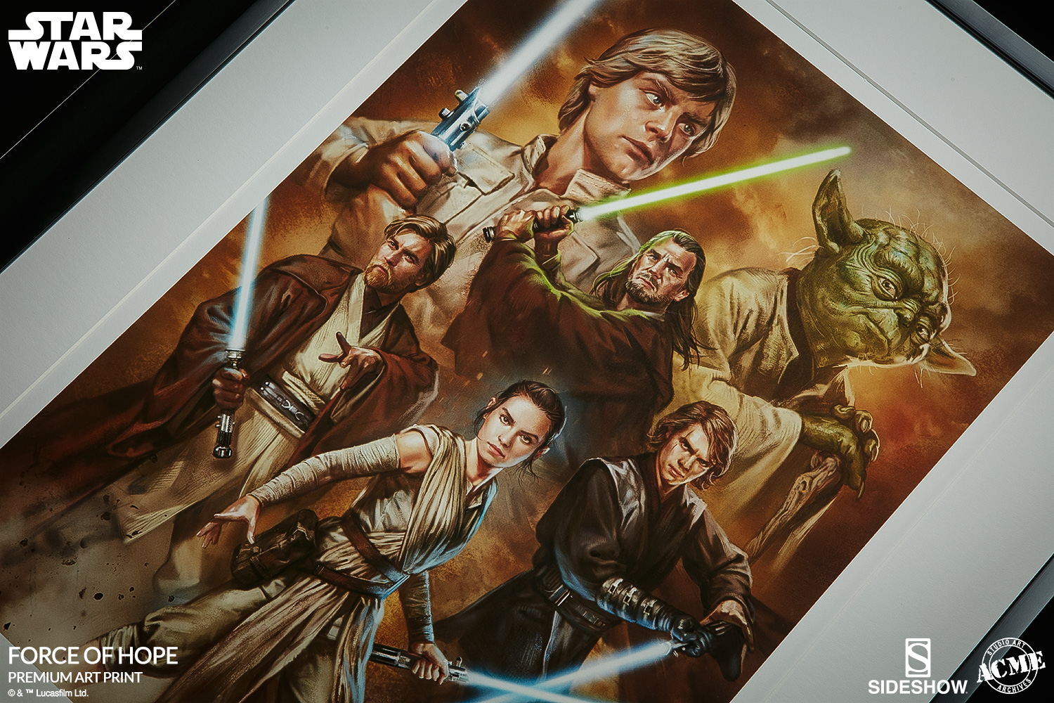 star wars force of hope art print by acme archives