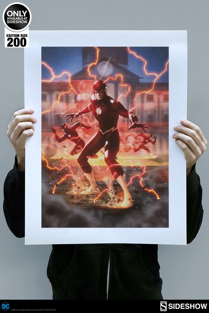 Dc Comics The Flash Premium Art Print By Sideshow