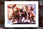 Avengers Team Cap Art Print