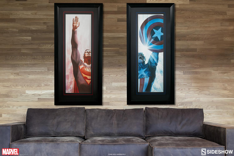 Wall Decor From Ross : Dc comics superman immortal and captain america triumphant