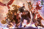 Avengers Team Cap and Iron Man Art Print