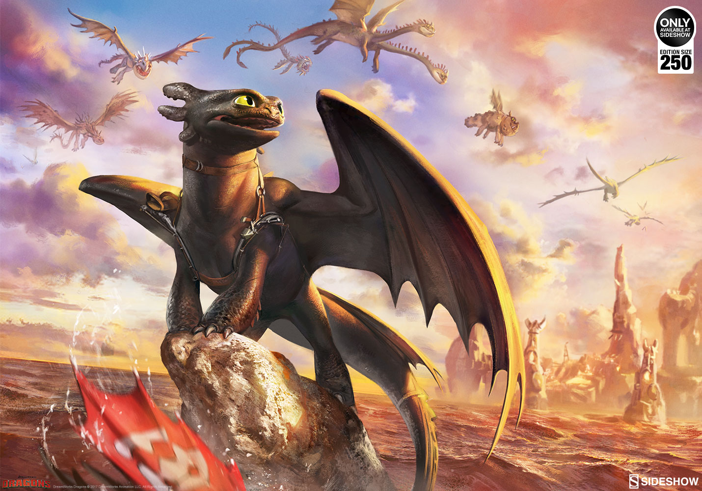 How to train your dragon toothless and the dragons of berk a toothless and the dragons of berk art print ccuart Image collections