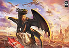 Toothless and the Dragons of Berk Art Print