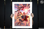 Supergirl and Power Girl Art Print