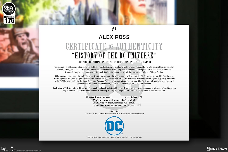 DC Comics History of the DC Universe Art Print by Alex Ross ...
