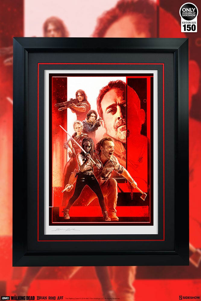The Walking Dead The Last Stand Art Print By Brian Rood Sideshow