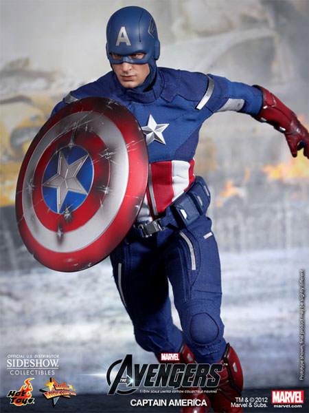 captain america sixth scale figure hot toys captain america sixth scale figure
