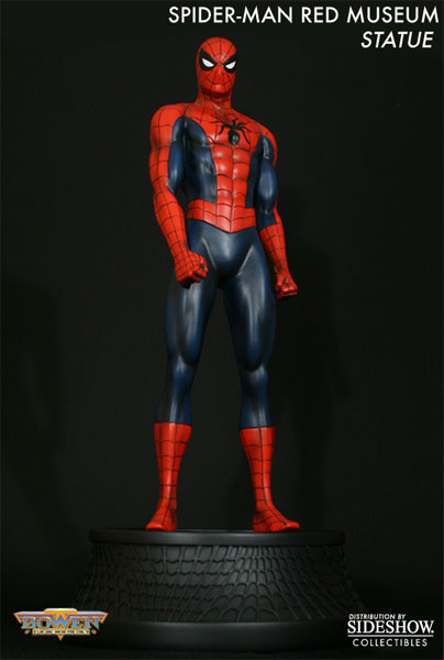 Marvel Spider Man Red Museum Polystone Statue By Bowen