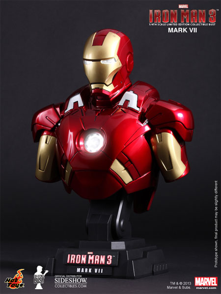 marvel iron man mark vii collectible bust by hot toys