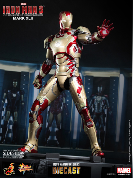 marvel iron man mark xlii 42 sixth scale figure by hot