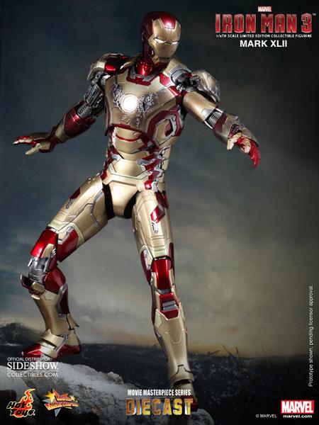 marvel iron man mark xlii 42 sixth scale figure by hot