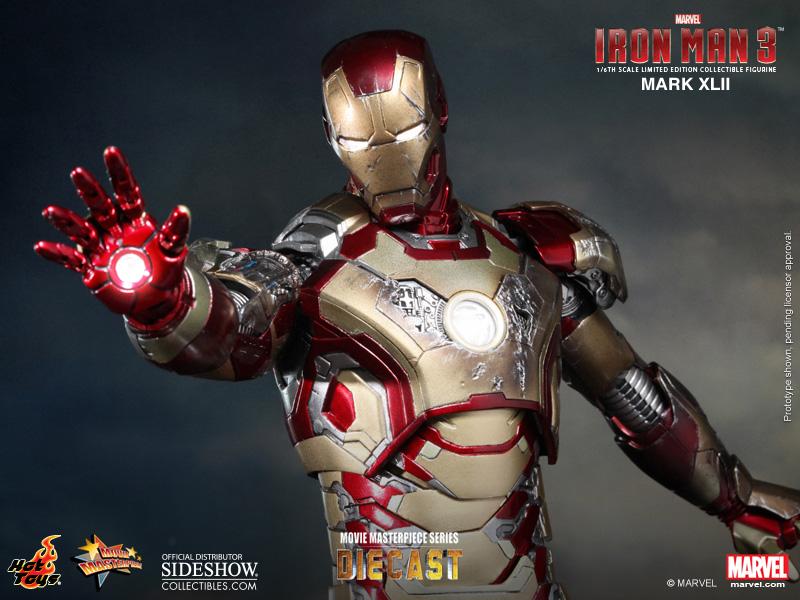 Iron Man Mark XLII (42) Sixth Scale Figure Iron Man Mark XLII (42 ...