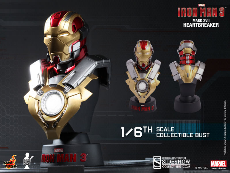 ... Hot Toys Iron Man Mark 17 Collectible Bust