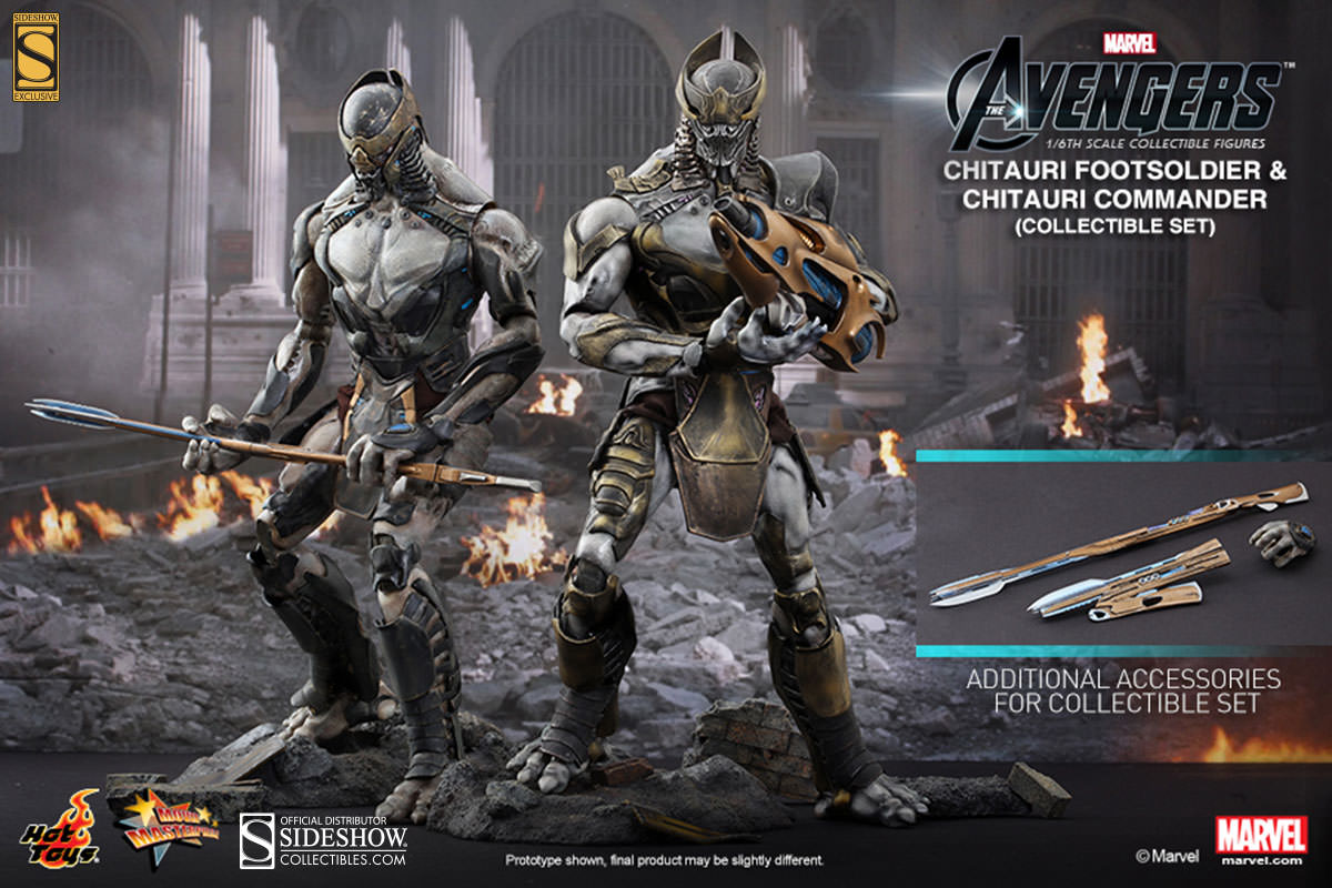 Chitauri Commander and Footsoldier | Sideshow Collectibles