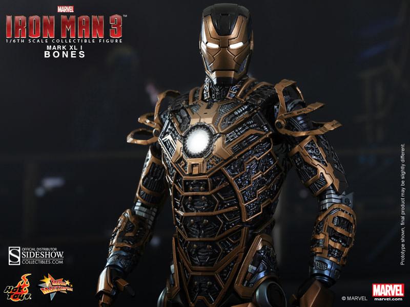Marvel Iron Man Mark XLI - Bones Sixth Scale Figure by Hot ...