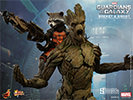 Hot Toys Rocket and Groot Sixth Scale Figure Set