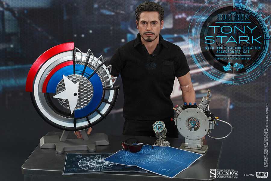 Marvel Tony Stark with Arc Reactor Creation Accessories ...