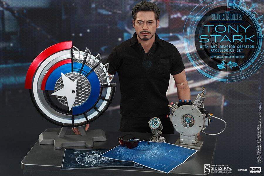 Marvel tony stark with arc reactor creation accessories coll hot toys tony stark with arc reactor creation accessories collectible set malvernweather Choice Image
