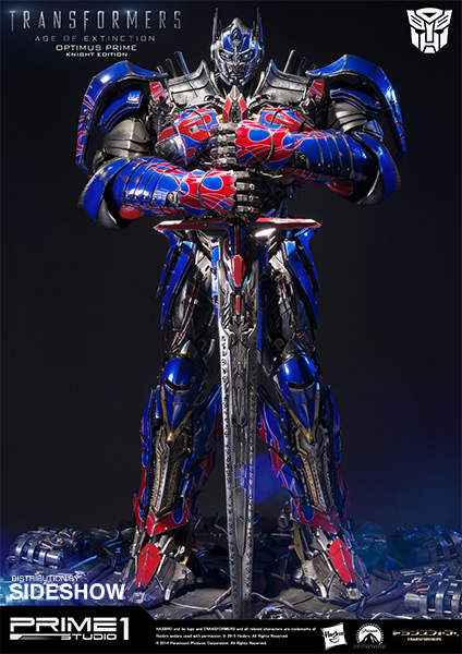 transformers optimus prime knight edition polystone statue b