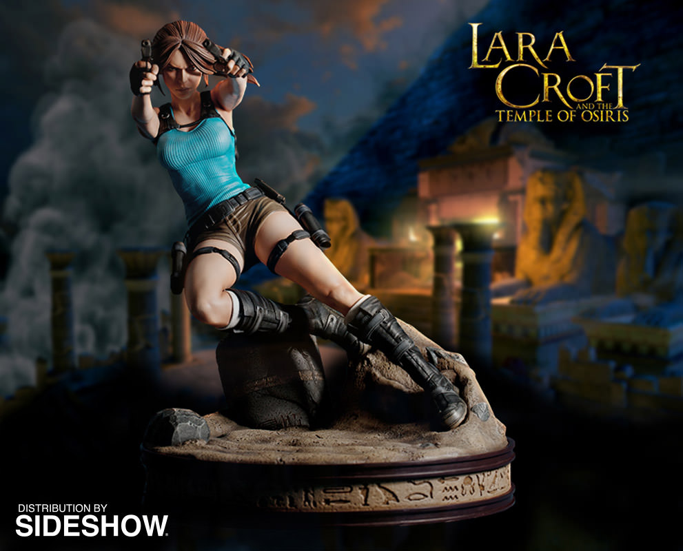 tomb raider lara croft temple of osiris statue by gaming hea sideshow collectibles. Black Bedroom Furniture Sets. Home Design Ideas