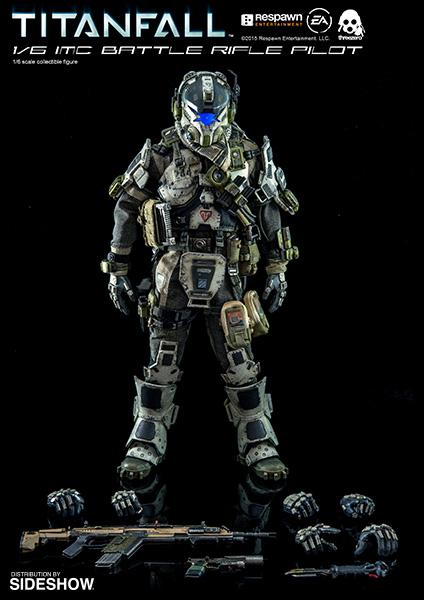 titanfall imc battle rifle pilot sixth scale figure by