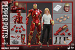 Hot Toys Pepper Potts and Mark IX Sixth Scale Figure Set