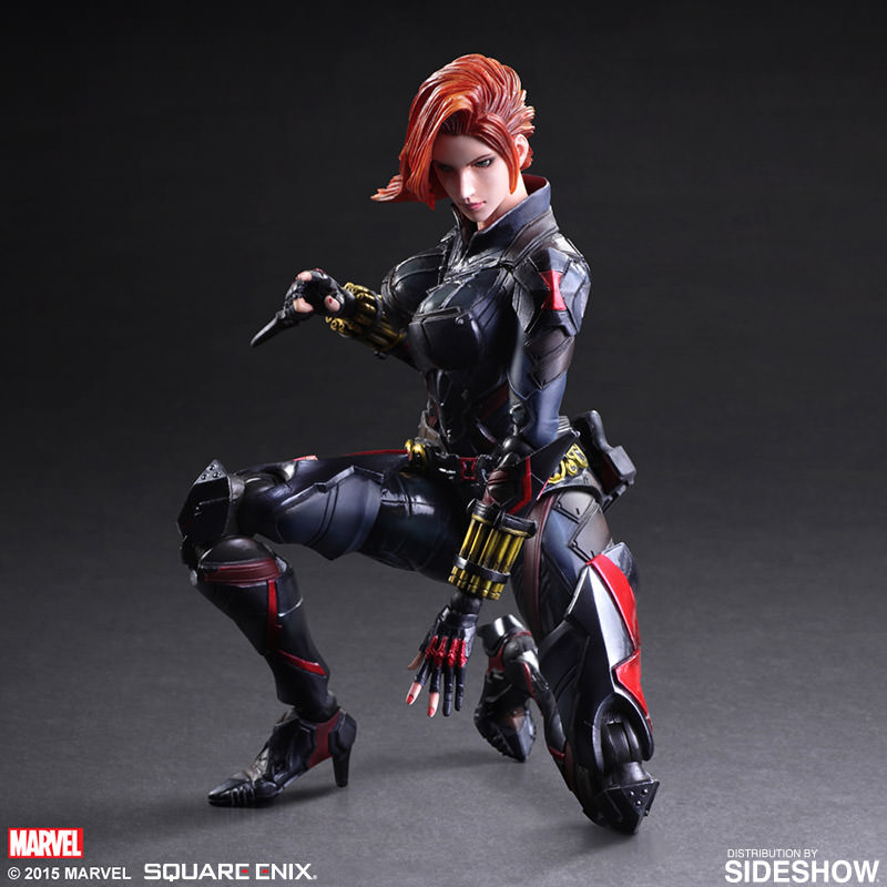 marvel black widow variant collectible figure by square. Black Bedroom Furniture Sets. Home Design Ideas