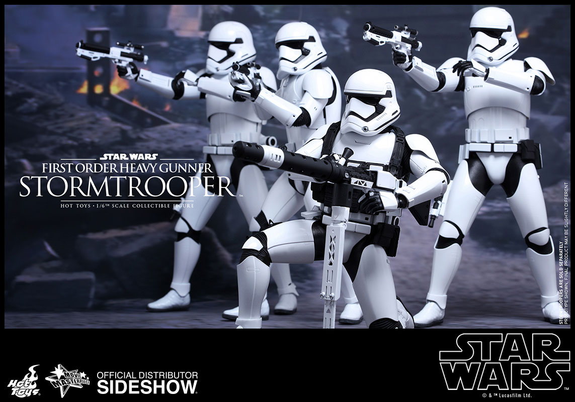 star wars first order stormtrooper with megablaster sixth sc sideshow collectibles. Black Bedroom Furniture Sets. Home Design Ideas