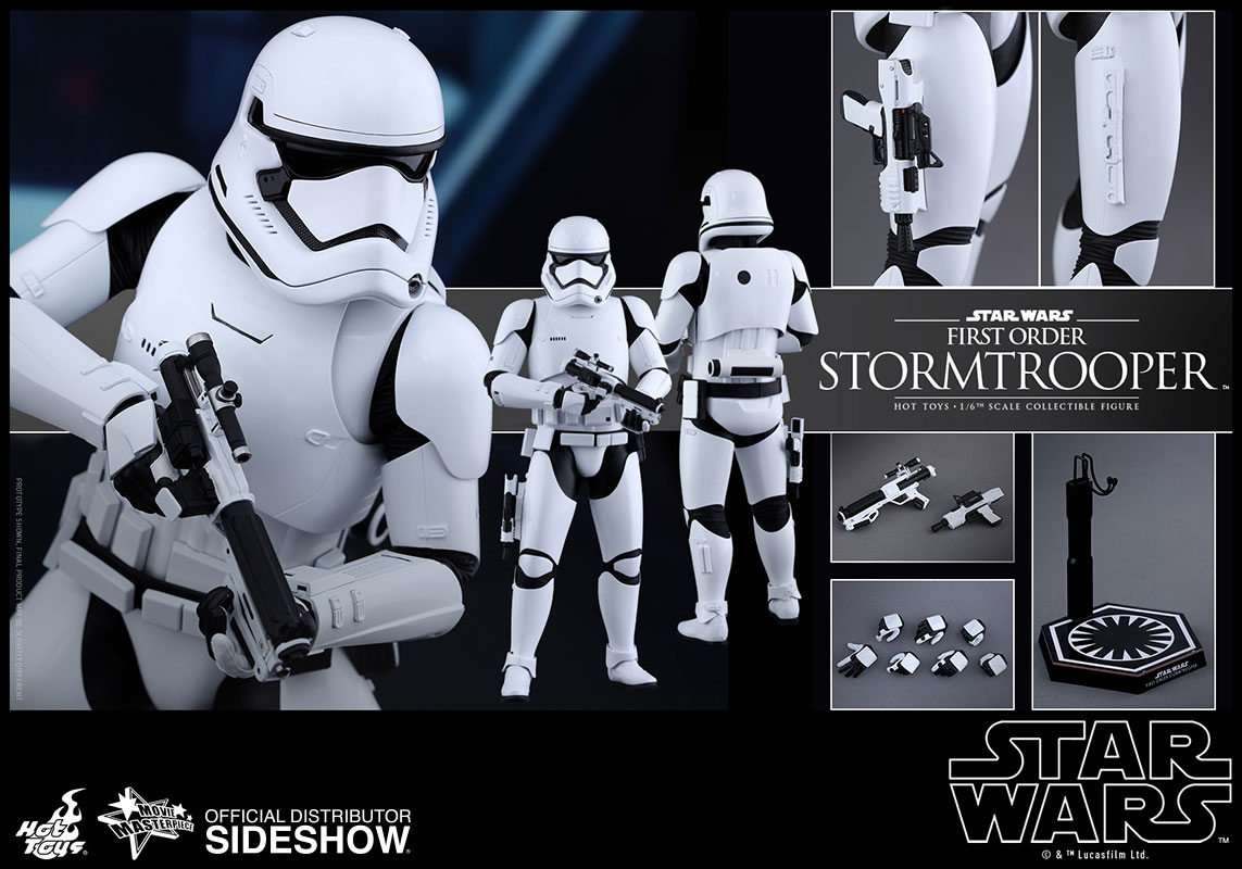 star wars first order stormtrooper sixth scale figure by hot sideshow collectibles. Black Bedroom Furniture Sets. Home Design Ideas