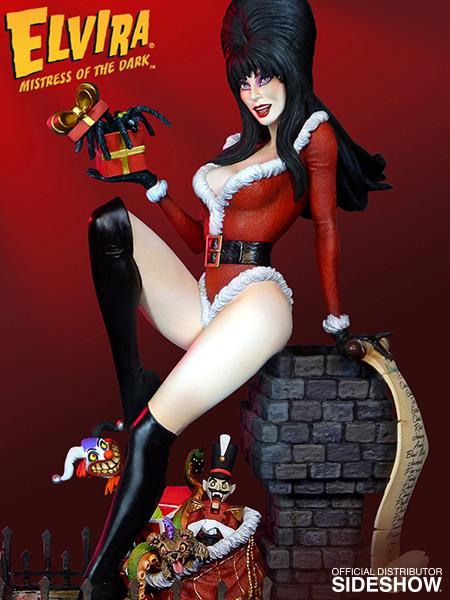 Elvira Elvira Scary Christmas Maquette by Tweeterhead | Sideshow ...