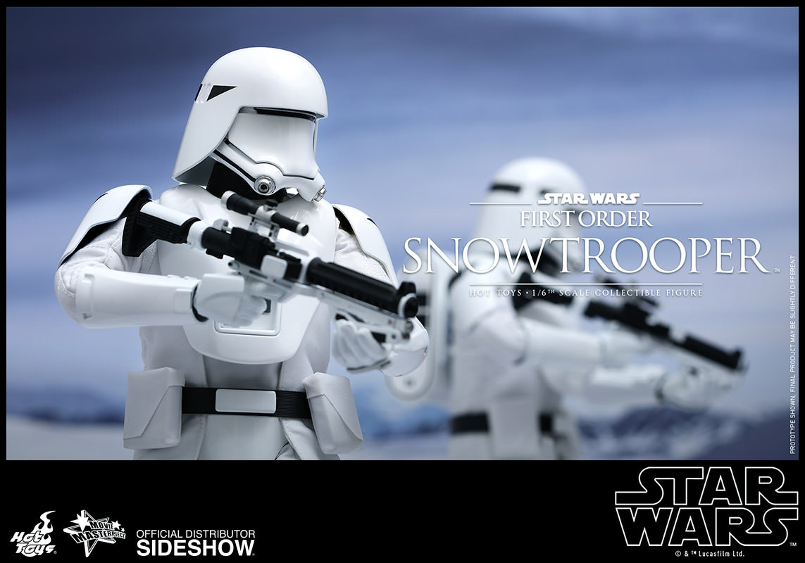 star wars first order snowtrooper sixth scale figure by hot sideshow collectibles. Black Bedroom Furniture Sets. Home Design Ideas