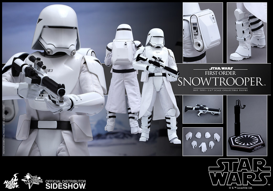 star wars first order snowtrooper sixth scale figure by