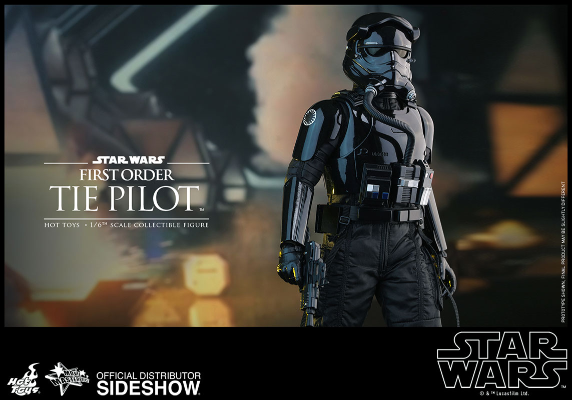 star wars first order tie pilot sixth scale figure by hot to sideshow collectibles. Black Bedroom Furniture Sets. Home Design Ideas