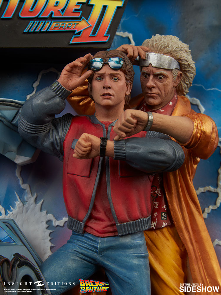 back to the future back to the future sculpted movie