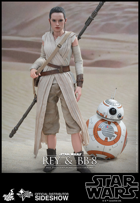 Rey Star Wars Toys : Star wars rey and bb sixth scale figure set by hot toys