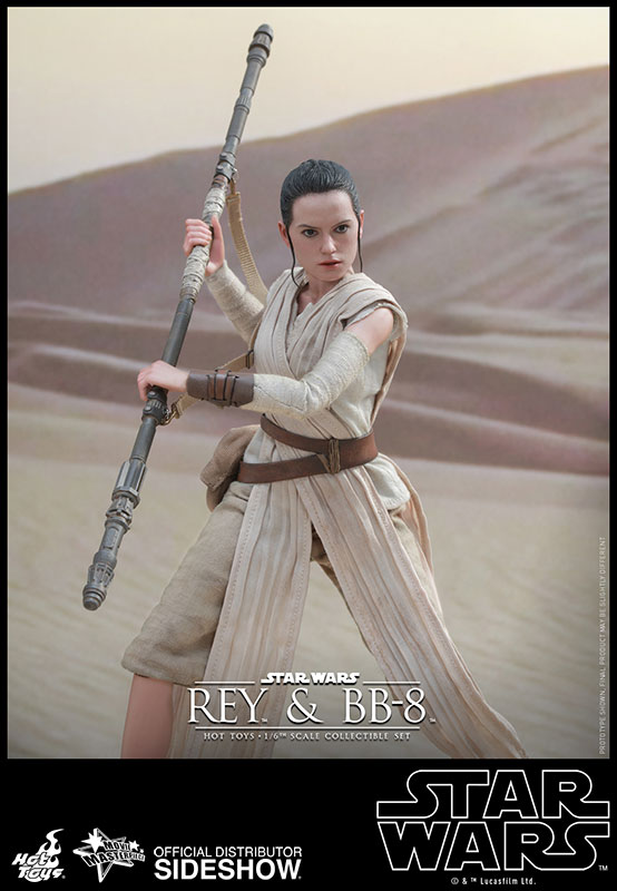 The Force Awakens REY Figure 1//6 GLOVED HANDS #3 Hot Toys MMS336 Star Wars