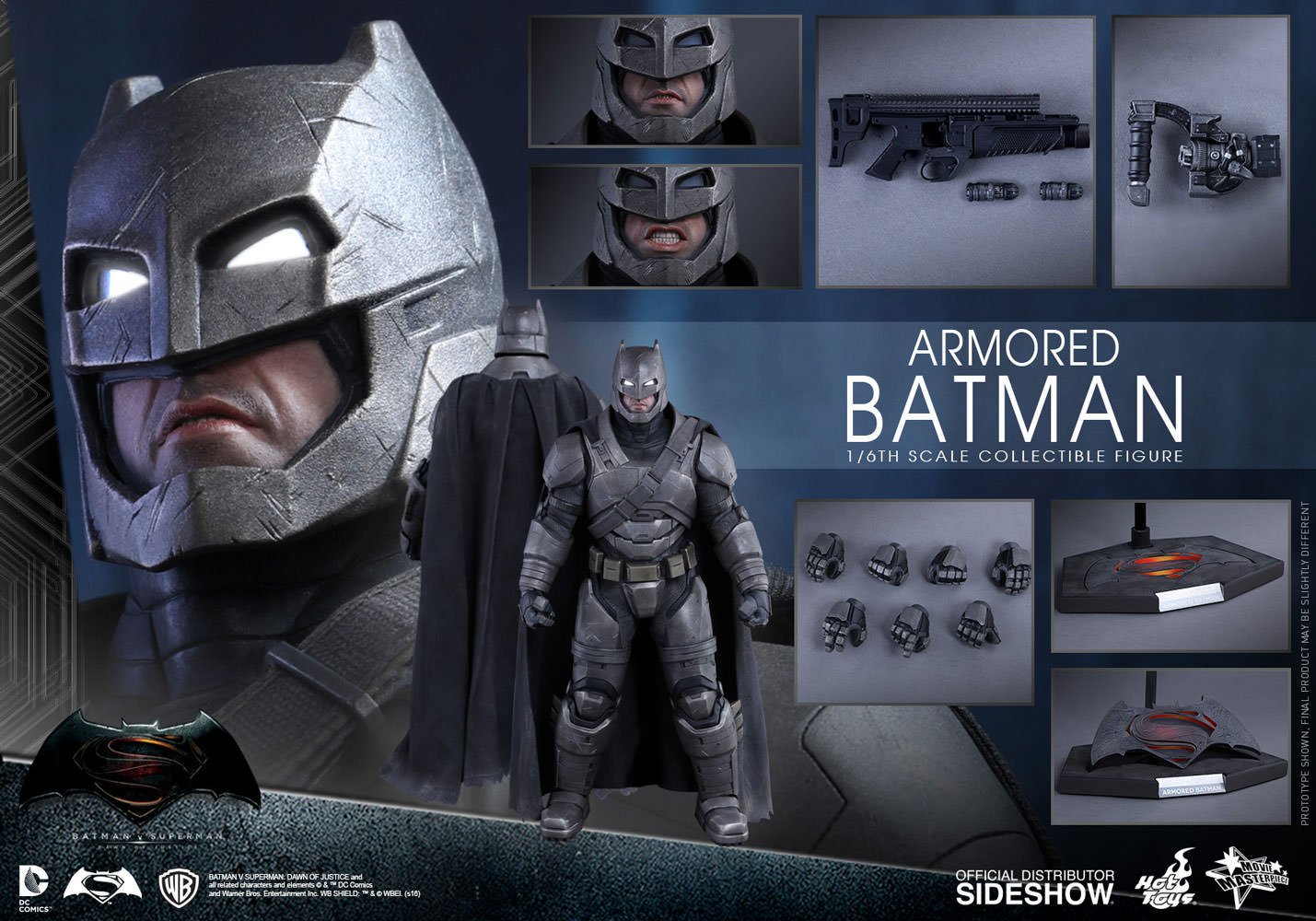 Hot Toys Armored Batman Sixth Scale Figure xbotf7fv