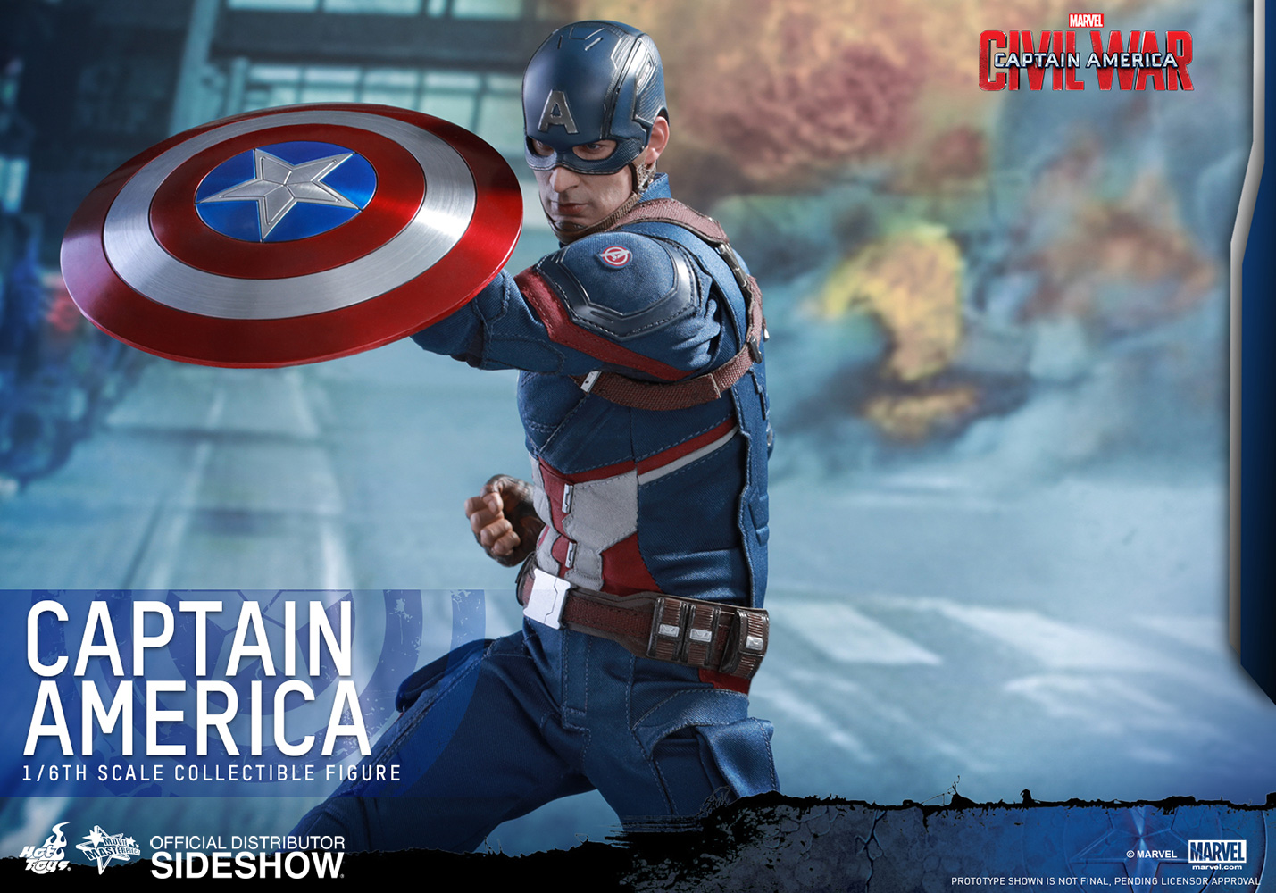 Marvel captain america sixth scale figure by hot toys sideshow collectibles - Image captain america ...