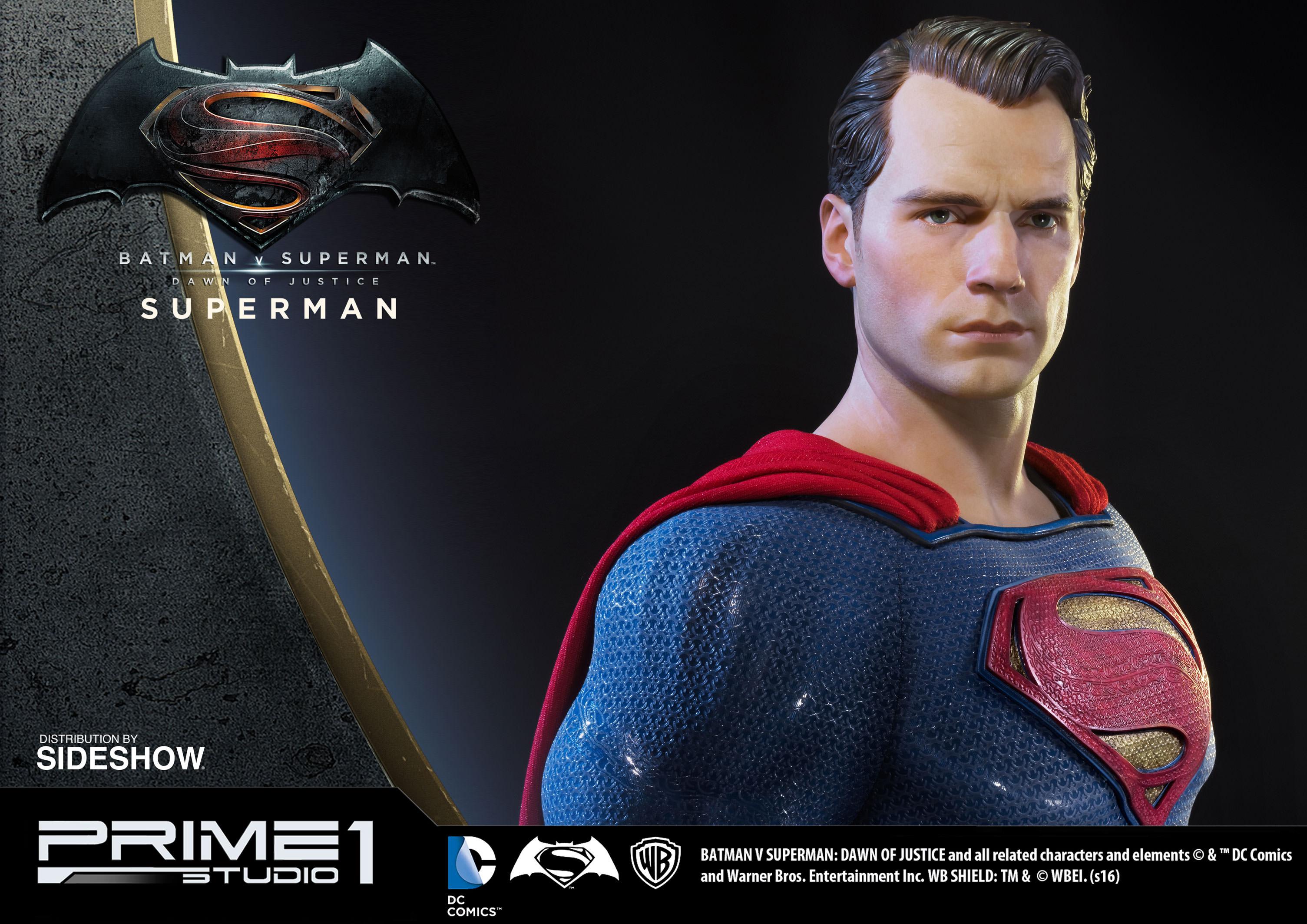 superman statue from batman v superman by prime 1 studio sideshow