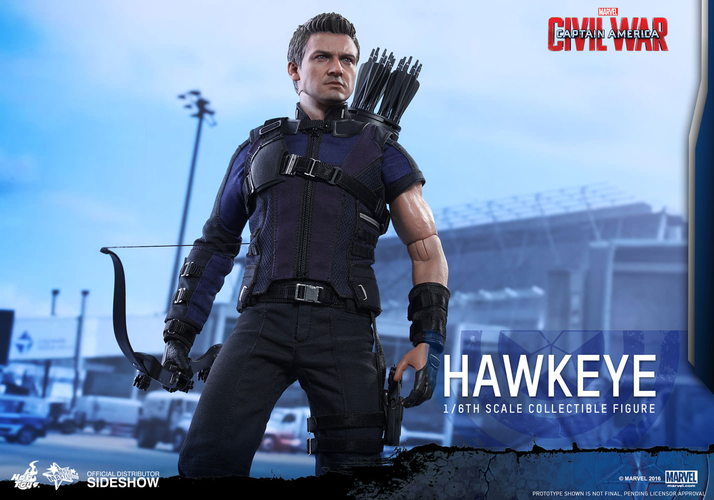 marvel hawkeye sixth scale figure by hot toys sideshow