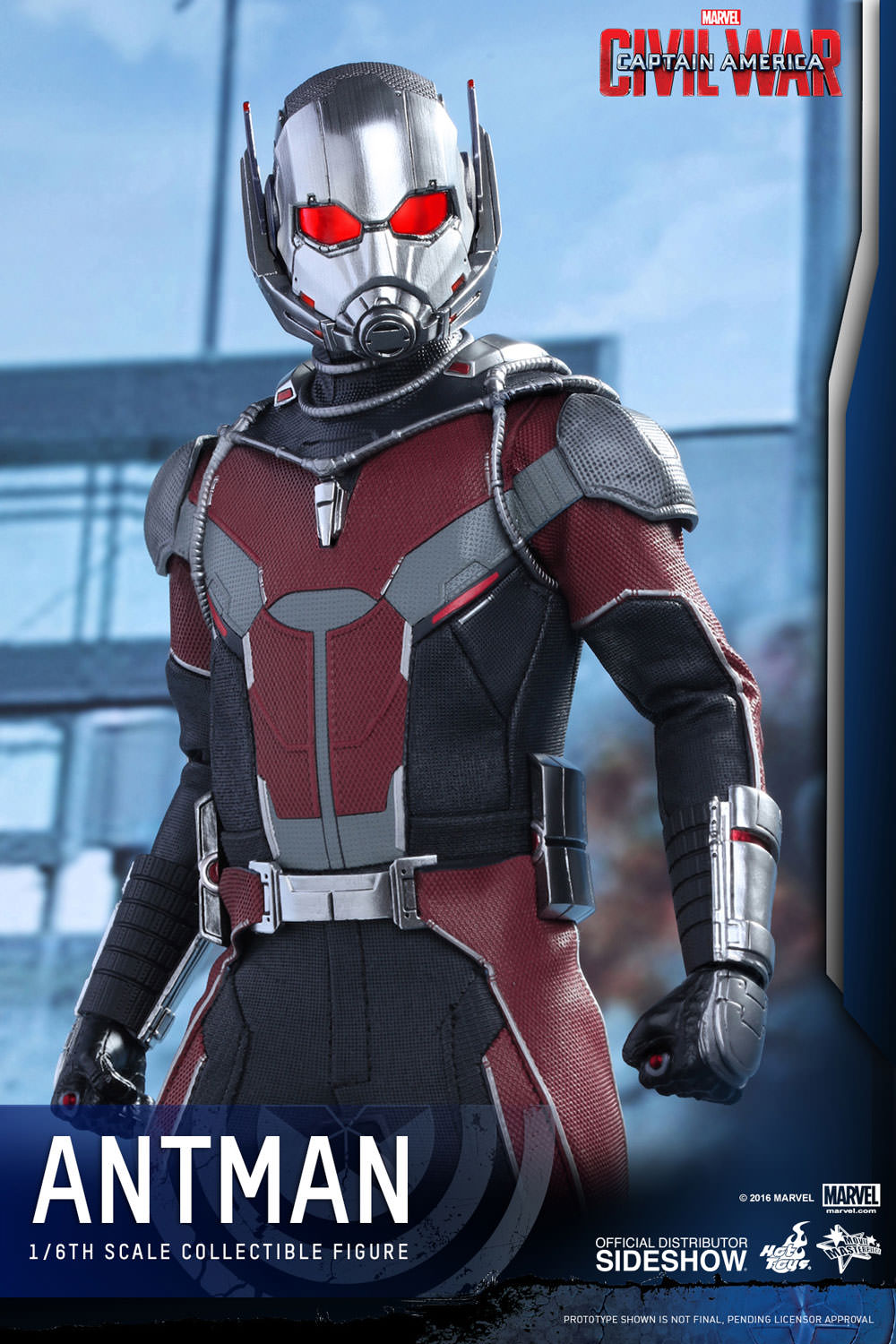 marvel ant man sixth scale figure by hot toys sideshow collectibles. Black Bedroom Furniture Sets. Home Design Ideas