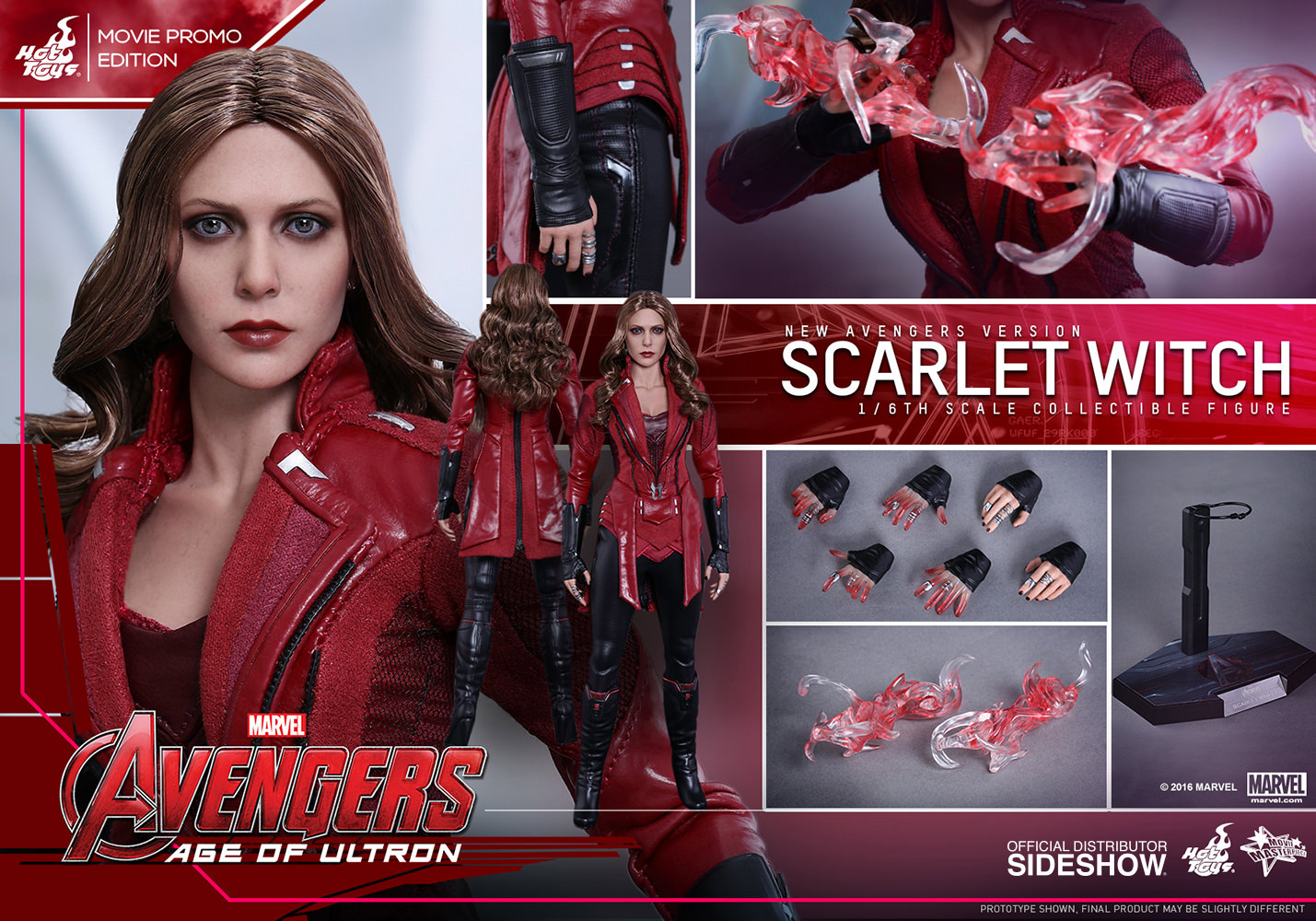 Marvel Scarlet Witch New Avengers Version Sixth Scale Figure ...