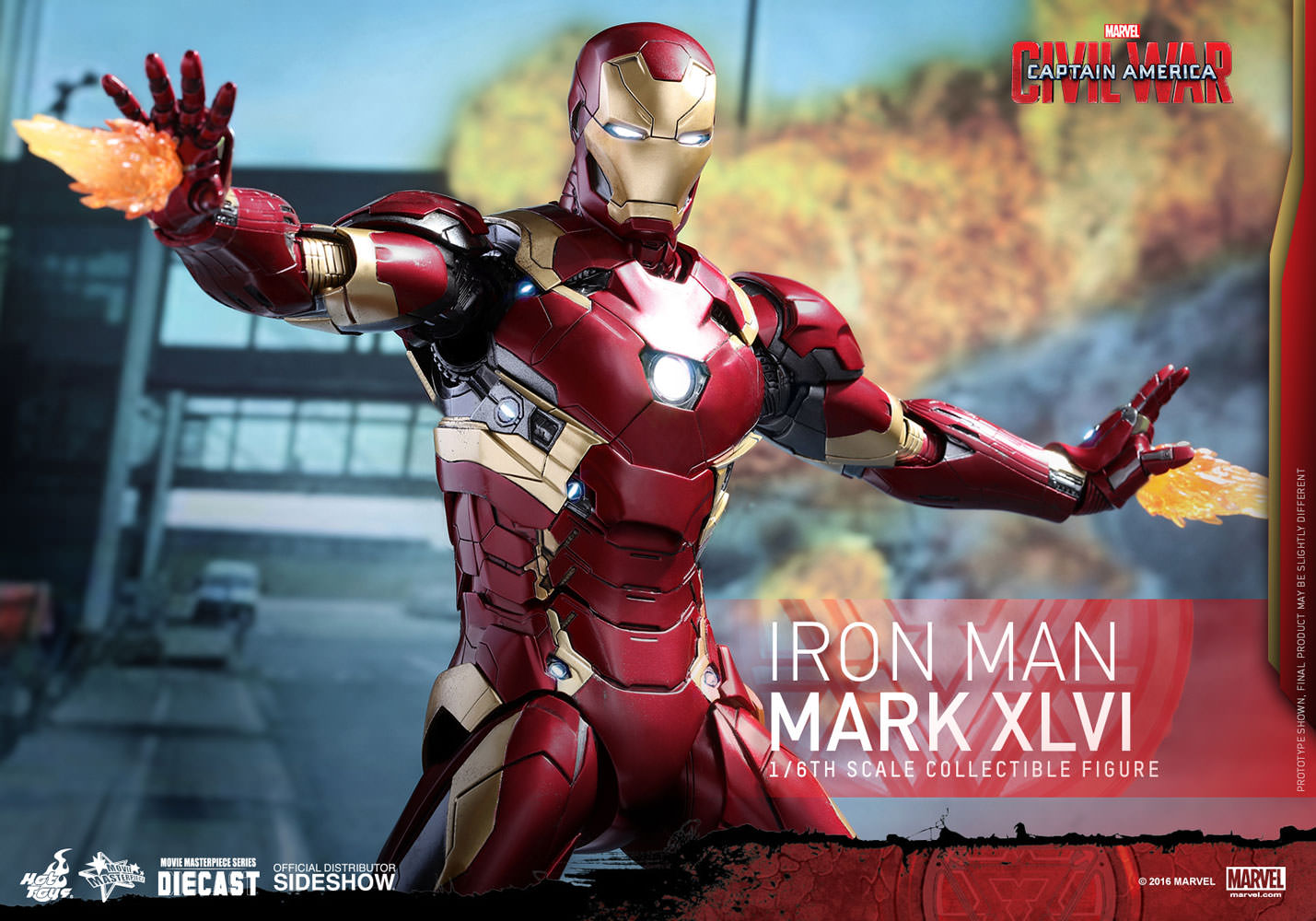 Marvel iron man mark xlvi sixth scale figure by hot toys sideshow collectibles - Image de iron man ...