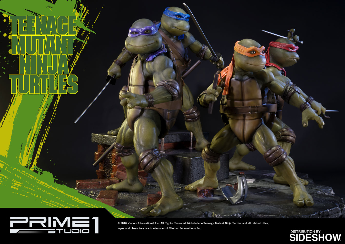 Teenage Mutant Ninja Turtles Toys 1 : Tmnt teenage mutant ninja turtles polystone statue by