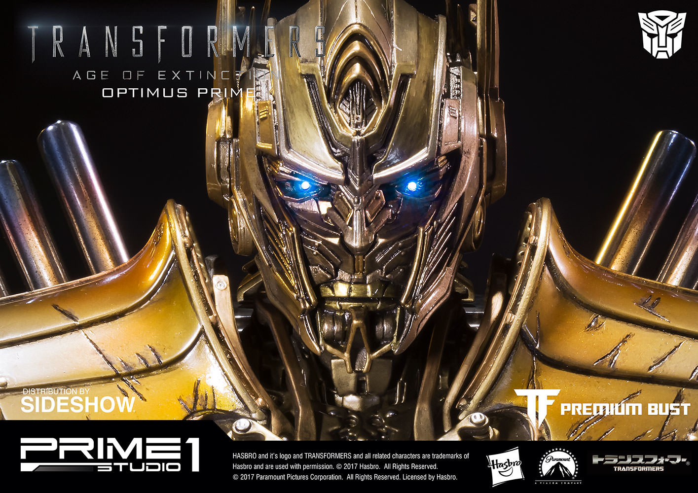 Transformers Optimus Prime Gold Version Bust by Prime 1 ...