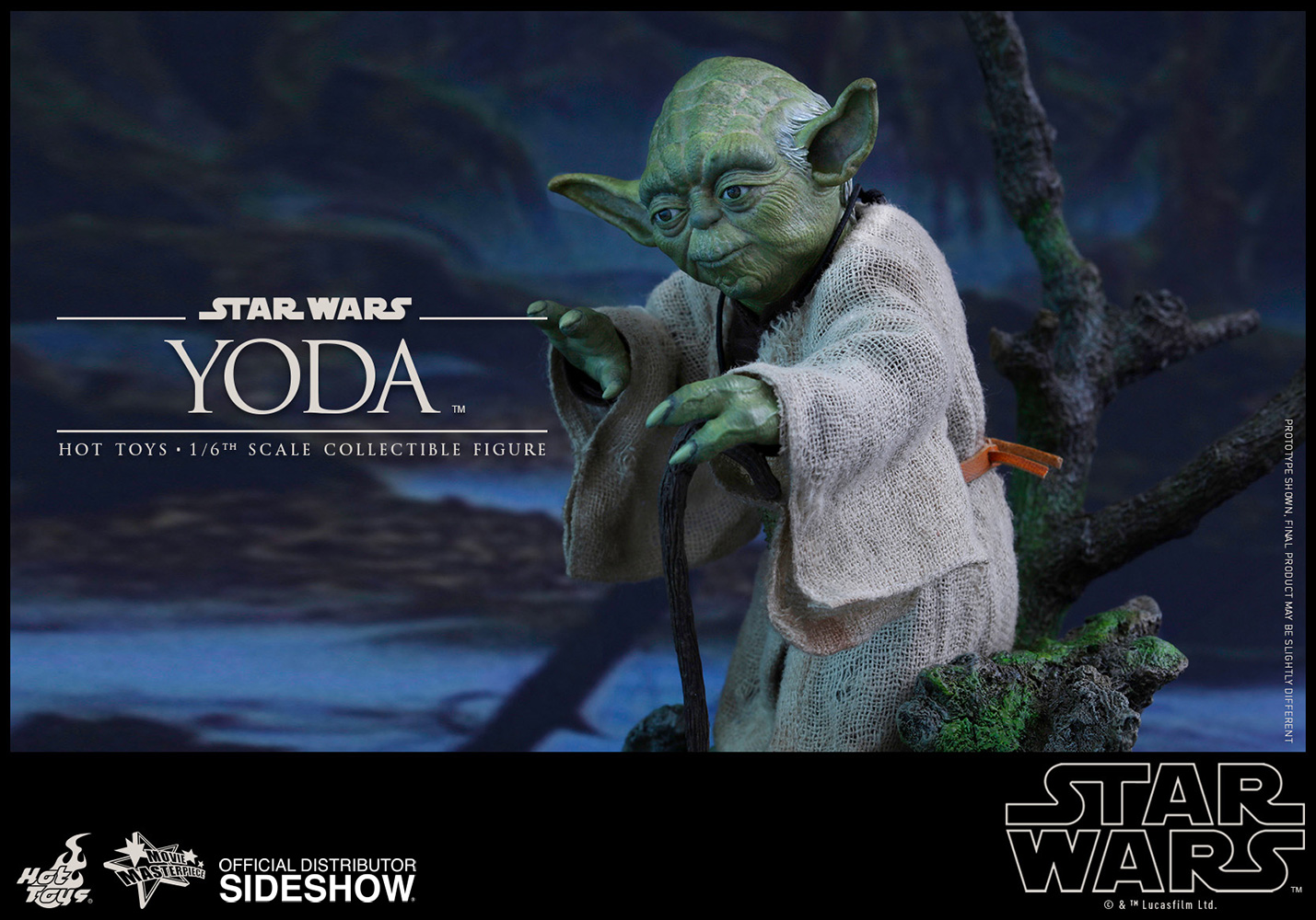 Star wars yoda sixth scale figure by hot toys sideshow collectibles
