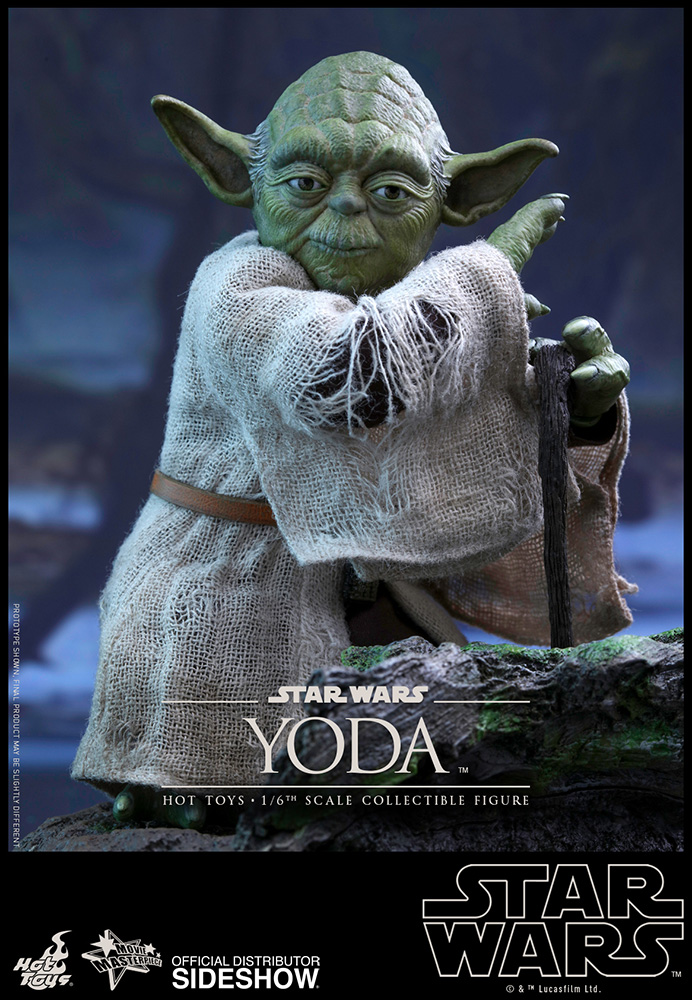 star wars yoda sixth scale figure by hot toys sideshow collectibles. Black Bedroom Furniture Sets. Home Design Ideas