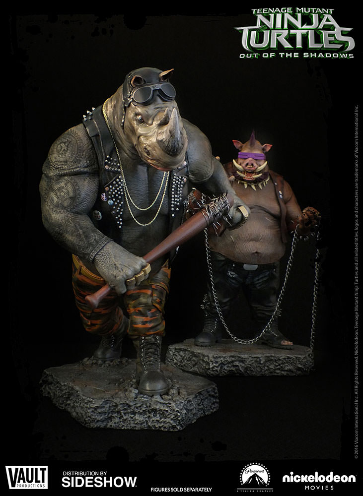 Out Of The Shadows Deviant Moon Tarot: TMNT Rocksteady Statue By Vault Productions